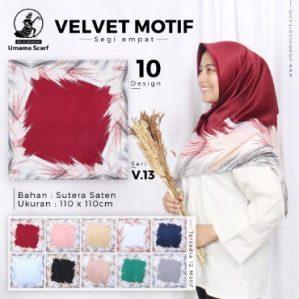 Grosir Jilbab Segiempat Velvet