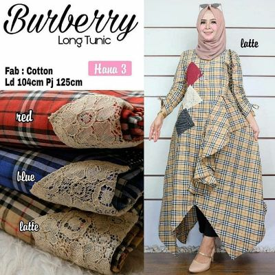 Grosir Baju Long Tunic Burberry
