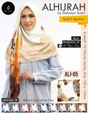 Suplier Jilbab Segiempat Jumbo Dafanya