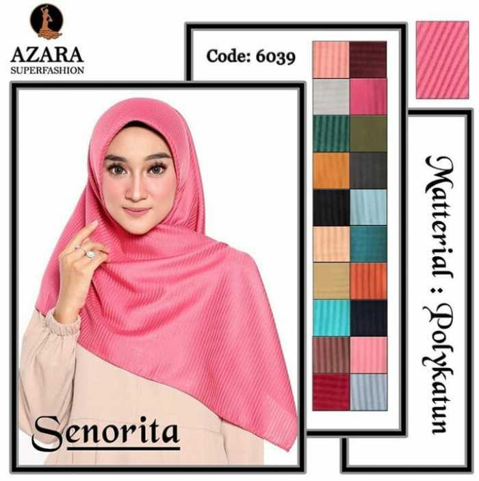 Jilbab Segi Empat Modis Simple dan modern Senorita Ori Azara