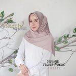 Jilbab Modern Velvet Blossom