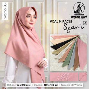 Hijab Segi Empat Voal Syar'i LC